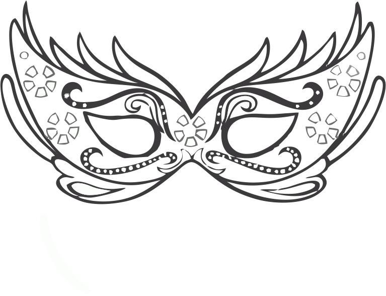 Desenhos De Mascara De Carnaval Para Imprimir Colorir Mascara