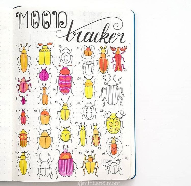 50 Bullet Journal Mood Tracker Ideas Volume 1 Bullet Journal