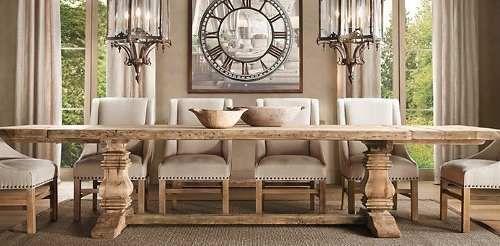 mesa de comedor en madera reciclada de mas de 100 años ...