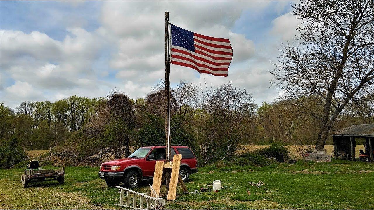 How to buildinstall a flag pole process
