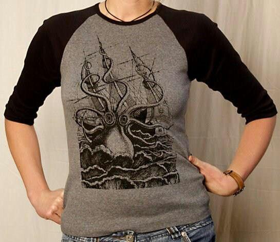 Octopus attack shirt Women, Cool shirts, Womens jersey
