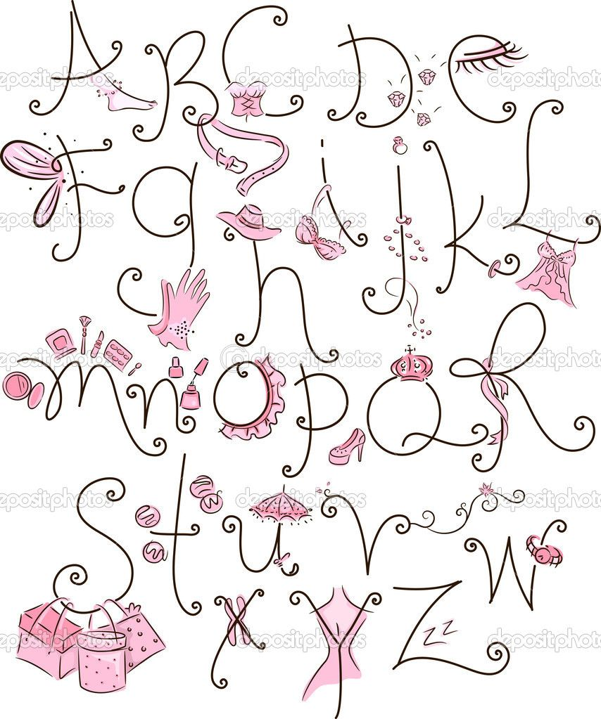 Girly Alphabet Fonts   www.pixshark.com - Images Galleries ... Girly Fonts
