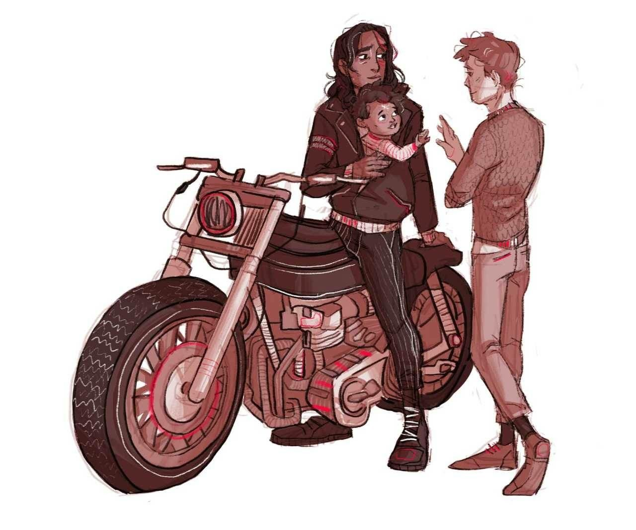 Sirius And Lupin And Baby Harry Harry Potter Artwork Harry Potter Comics Harry Potter Pictures