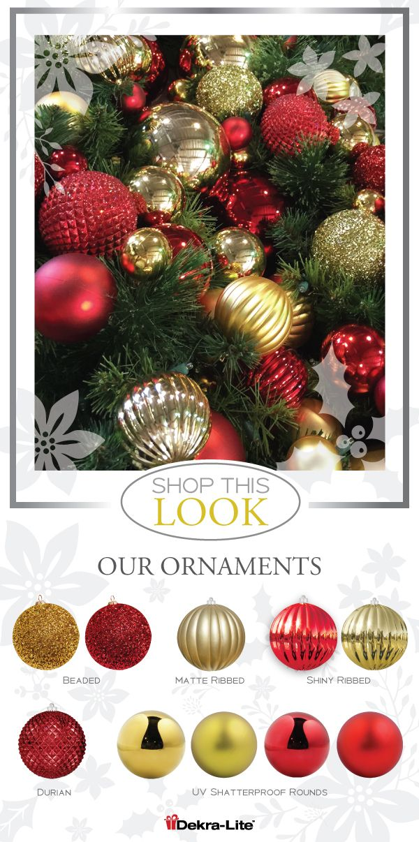 So much can be done with just Red and Gold Christmas Ornaments Its - wholesale christmas decor