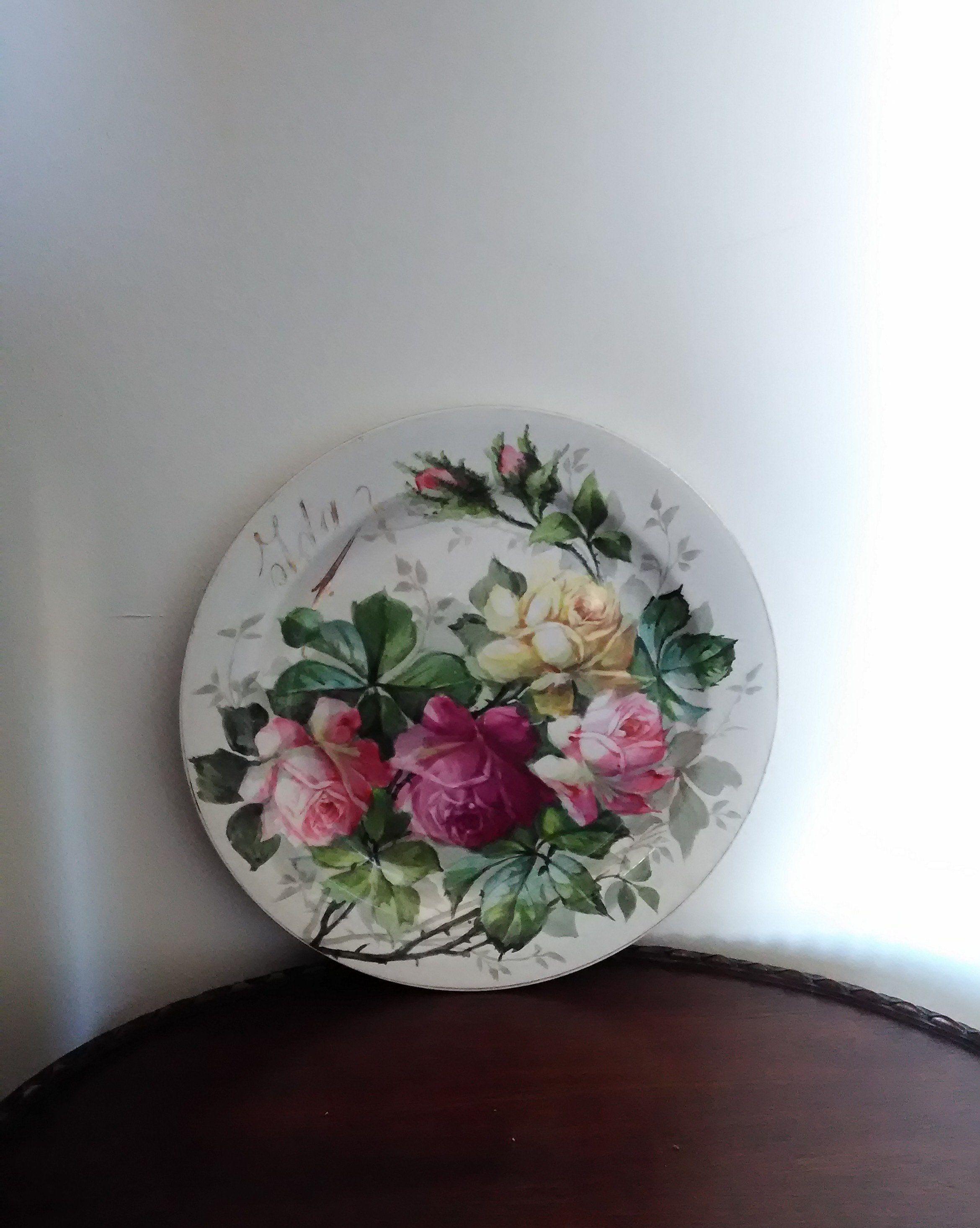 Come Appendere Piatti In Ceramica piatto da appendere, antico, marchiato richard ginori