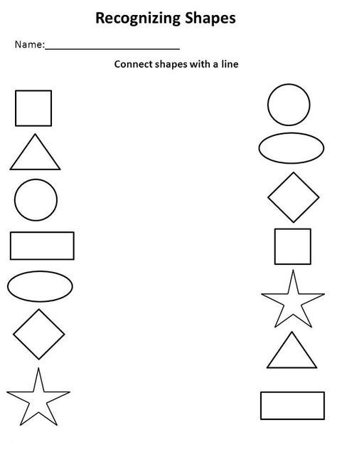 Preschool Activity Sheets Shape | Learning Printable | Education ...
