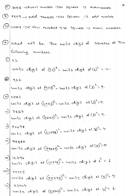 Squares And Square Roots Rd Sharma Class 8 Solutions Ex 3 2 Square Roots Class 8 Class