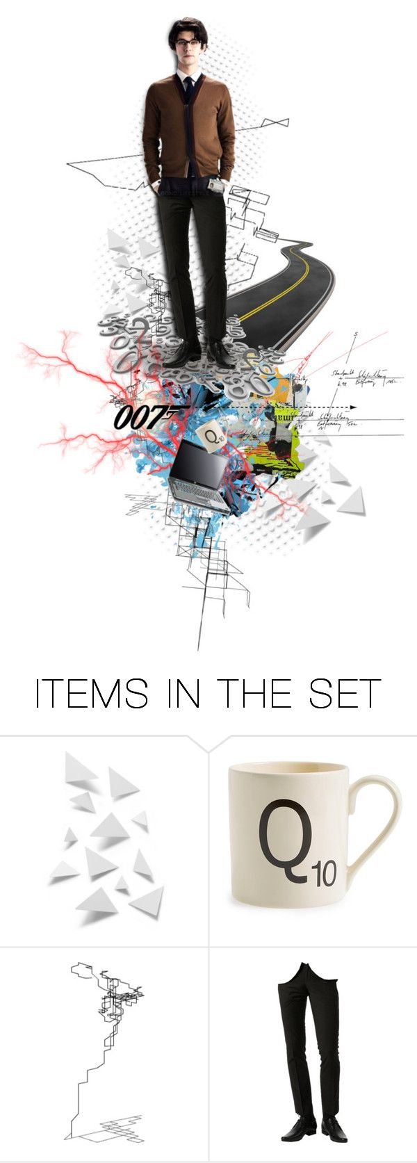"""Q"" by papee ❤ liked on Polyvore featuring art, movie and 007"