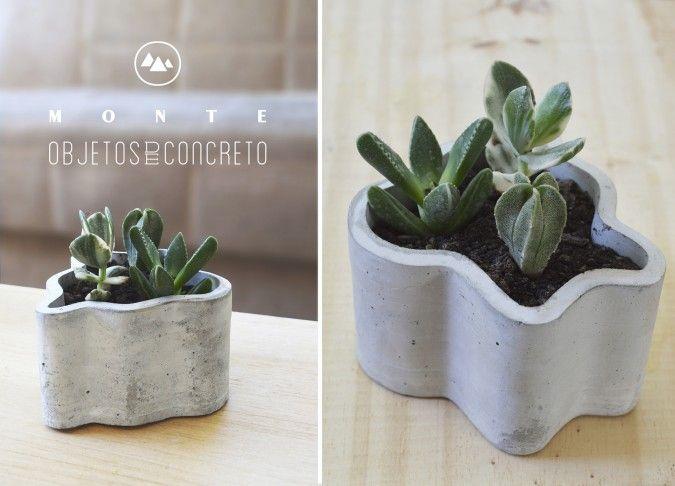 Maceta curvas de concreto dimensiones 12 cm x 7 cm de alto - Maceta de cemento ...