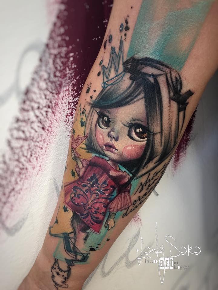 Abstract blythe doll tattoo avant garde avant garde for Avant garde tattoo
