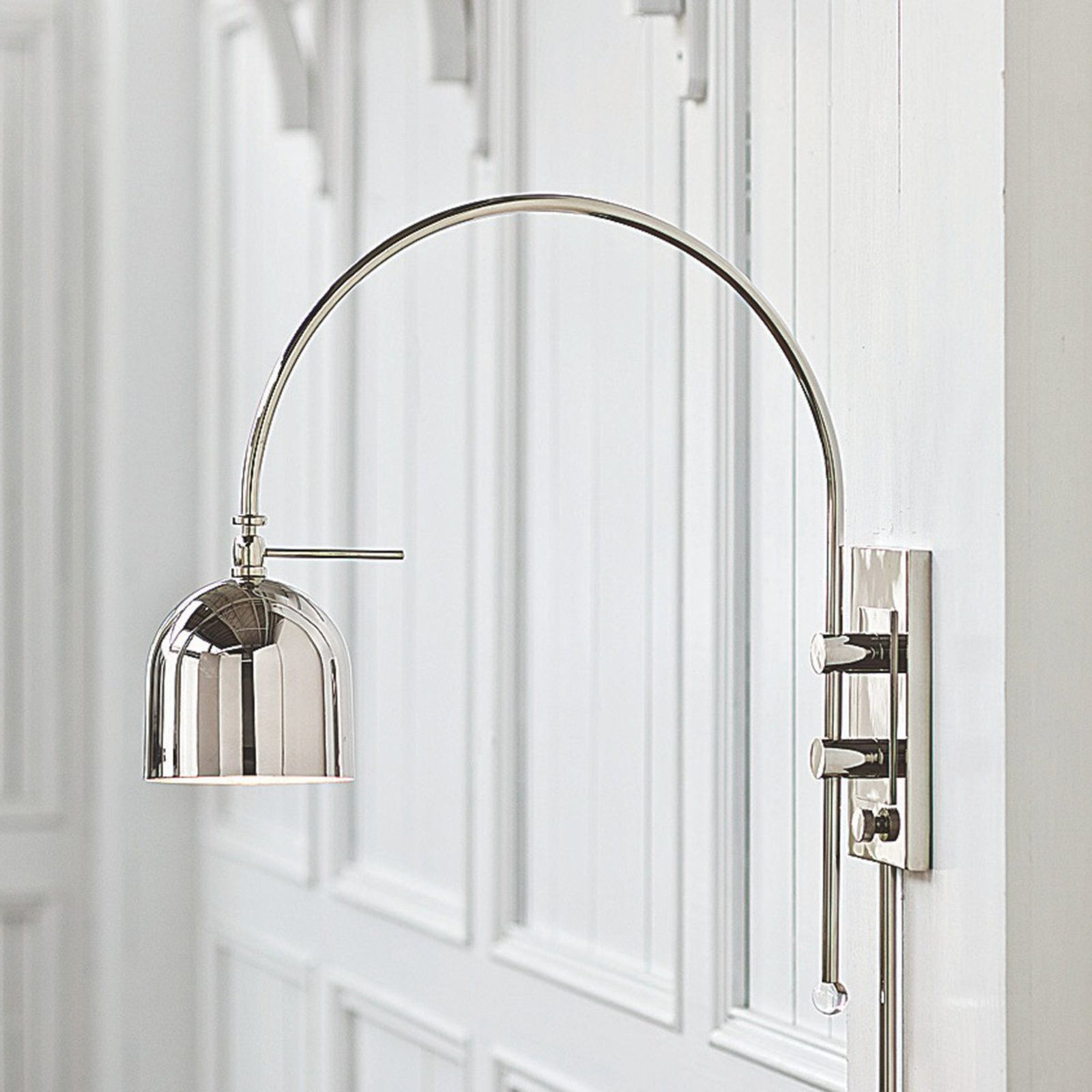 Arc dome shade modern swing arm wall light mozeypictures Choice Image