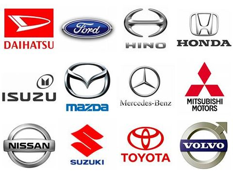 These Are Different Names Of Cars Made In The United States As - Car sign with namespolskisport pictures of car brand logos with names