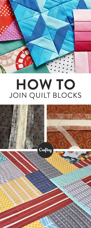 Joining Quilt Blocks: Quilt As You Go | Pinterest | Patchwork kissen ...