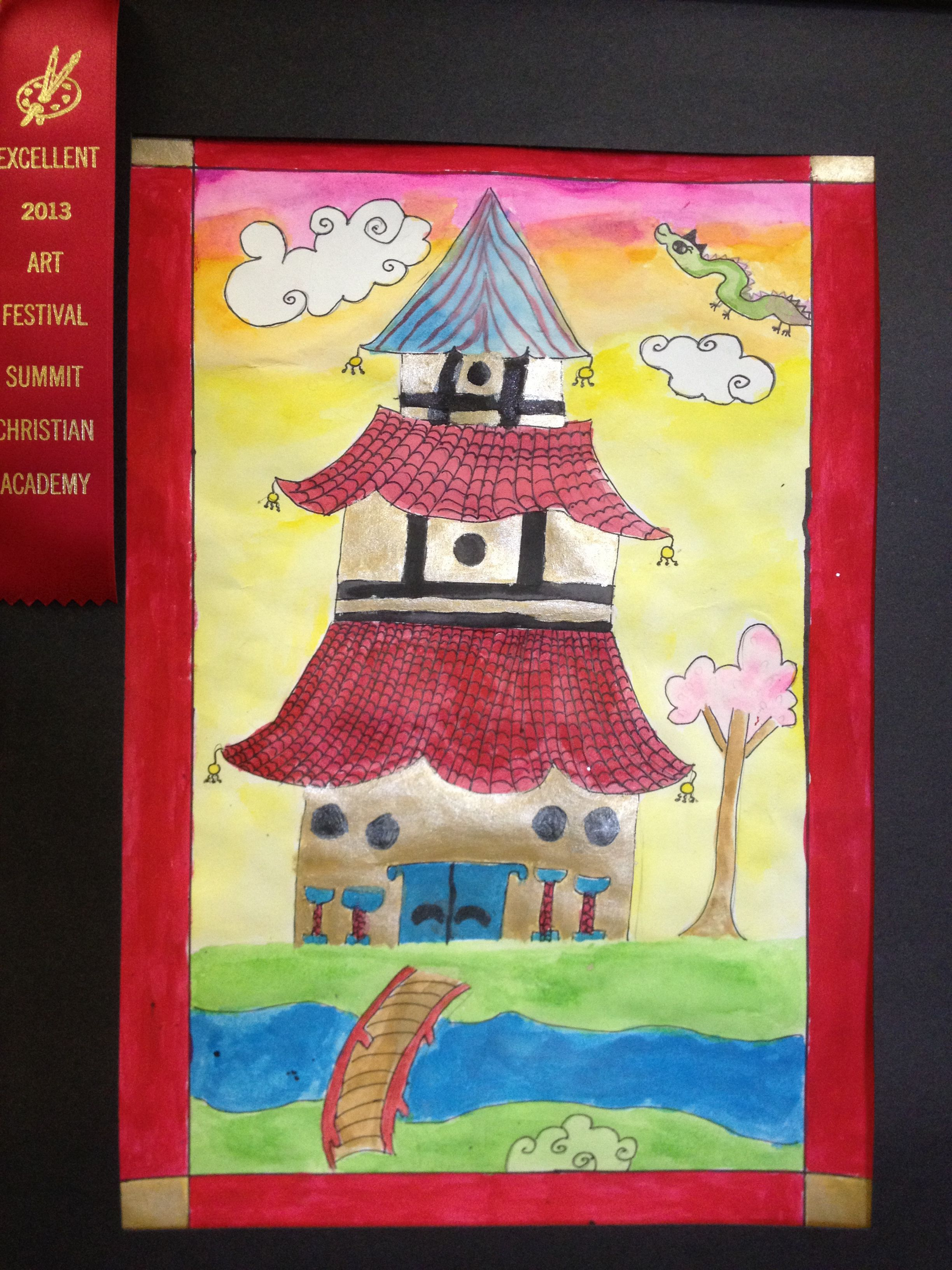 Pagoda Architecture Design Amp Painting Lesson
