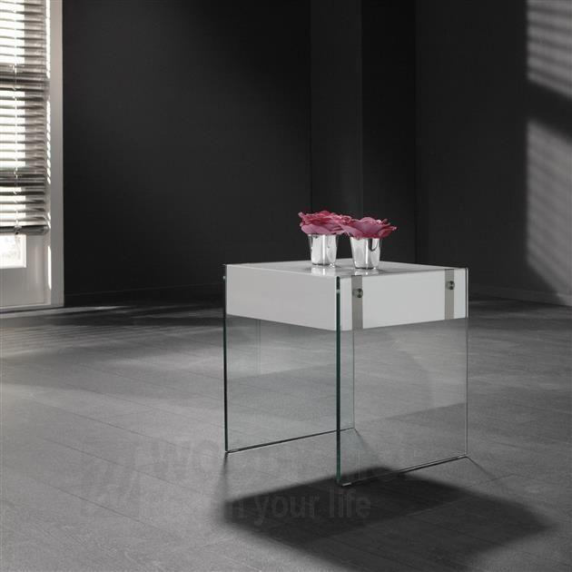 Beistelltische Modern beistelltisch hochglanz weiss lackiert mit glas woody 83 00179 holz