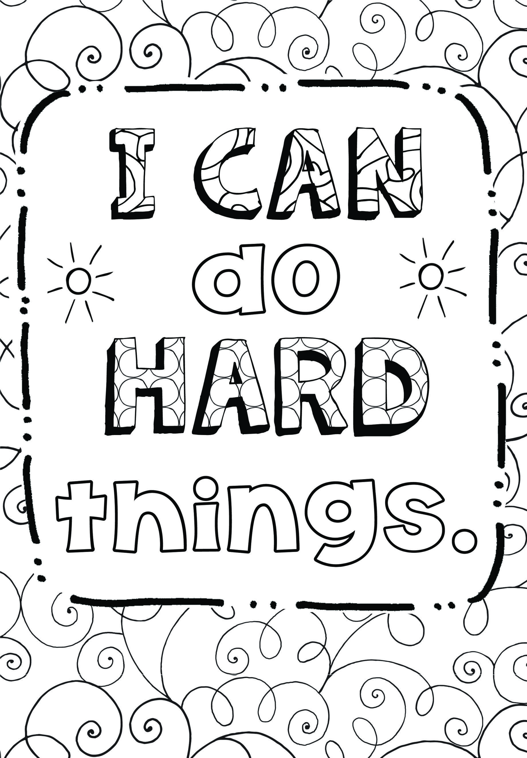 Free Growth Mindset Coloring Sheets With Images