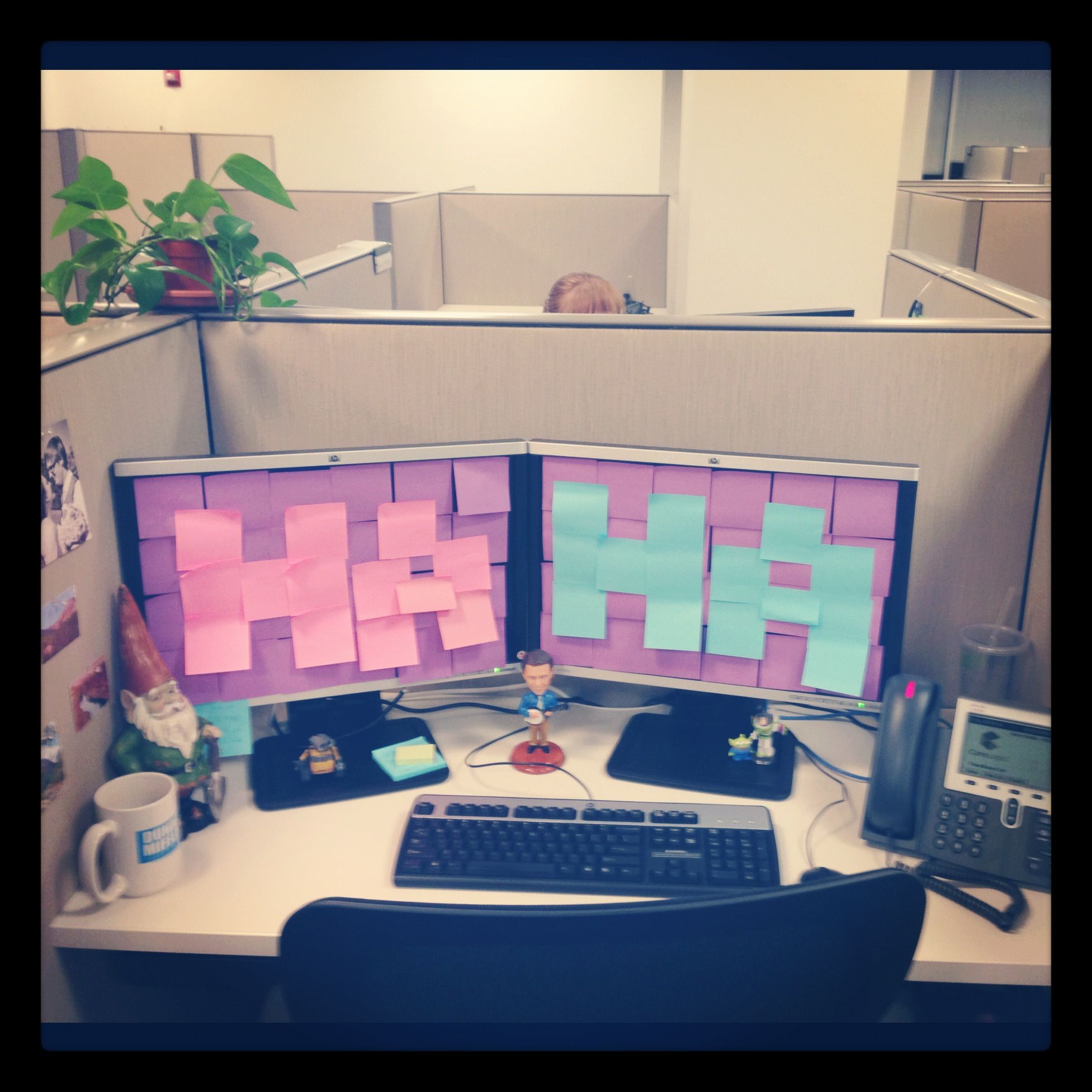 Office desk pranks ideas Birthday Office Prank Pinterest Office Prank Favorites Pranks Funny Office Pranks Funny Pranks