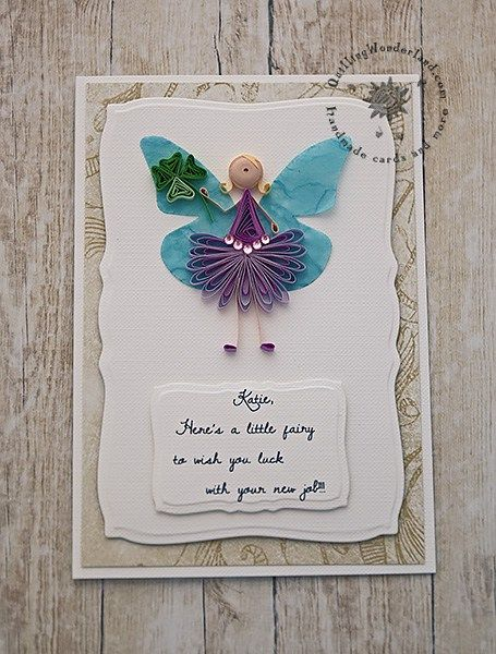 Quilled new job greeting card quilling angels pinterest quilled new job greeting card m4hsunfo