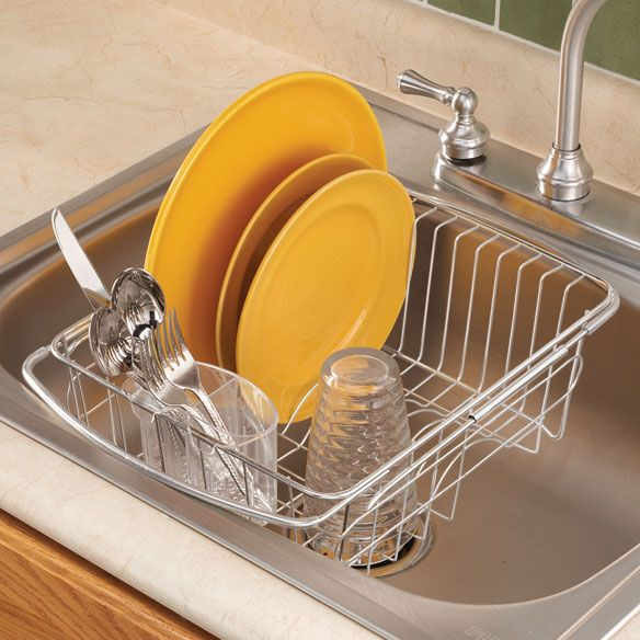 kitchen sink plate drainer the sink dish drainer rack kitchen essentials 5897
