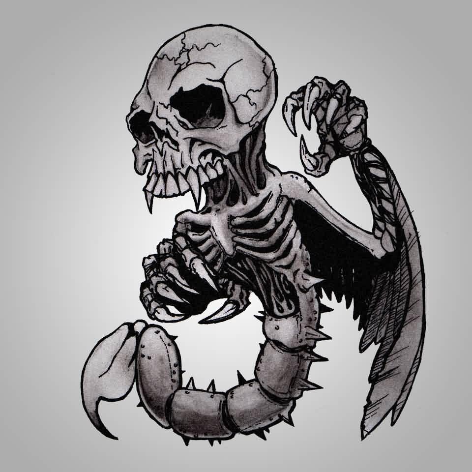 Картинки череп со скорпионом