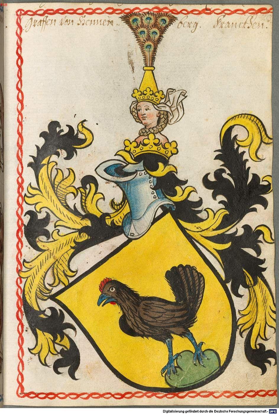 Scheibler'sches Wappenbuch Süddeutschland, um 1450 - 17. Jh. Cod.icon. 312 c  Folio 23