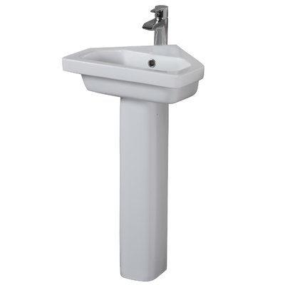 Barclay Resort Corner Vitreous China 18 Pedestal Bathroom Sink
