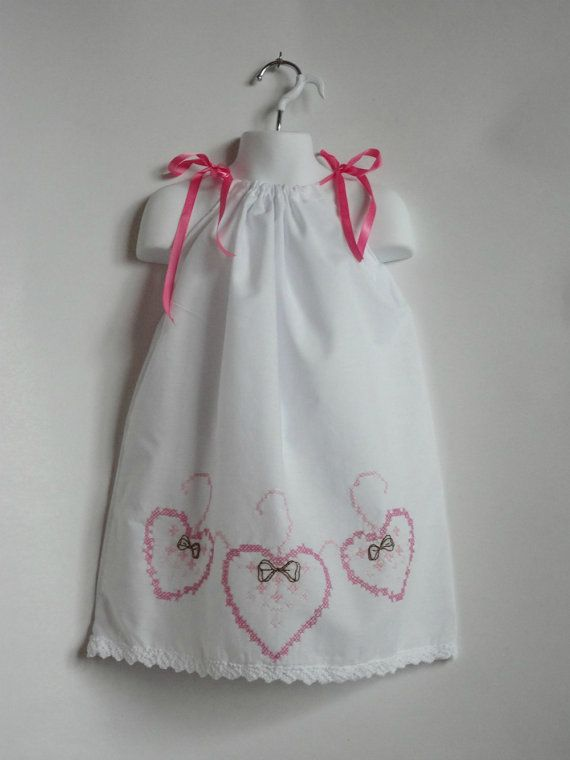 Baby Toddler Girl Pillowcase Dress Valentines by PlanetPlayground, $25.00