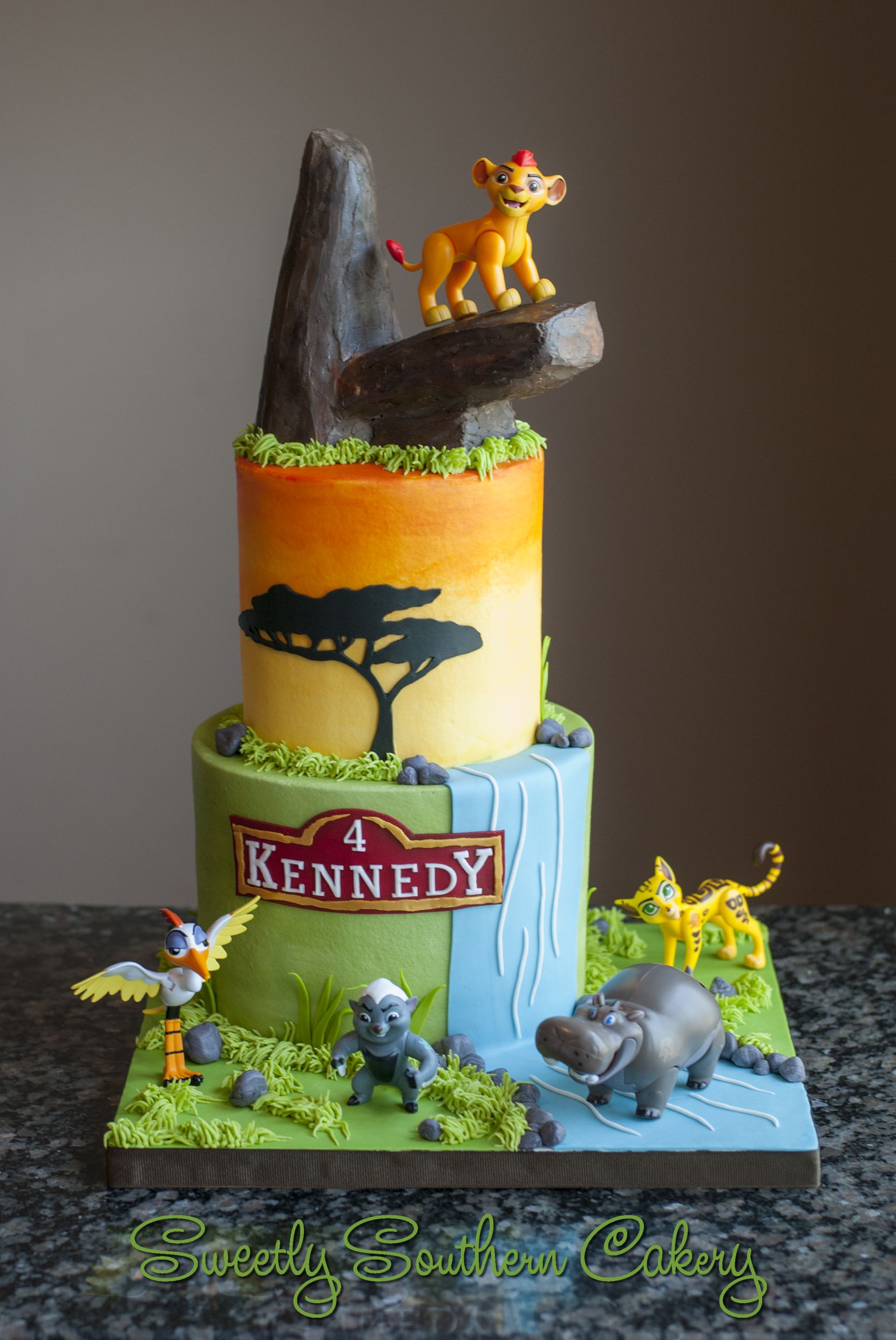 Lion Guard Cake With Images Lion King Birthday Lion Guard