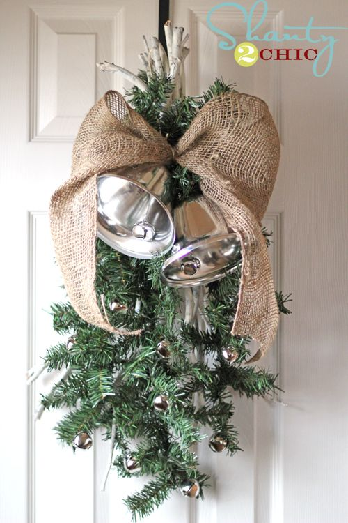 Silver Bells Christmas Decorations Pottery Barn Inspired Silver Bells Swag  Pottery Barn Inspired