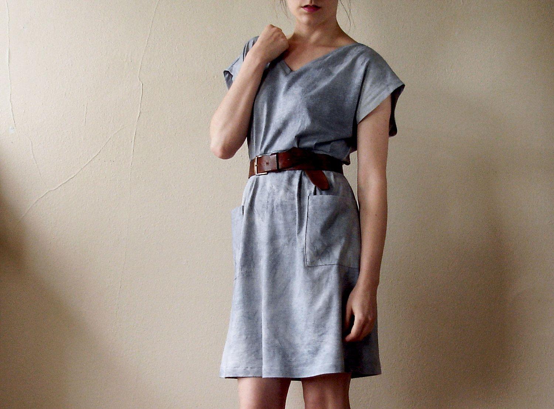 Hand Dyed Cap Sleeve Dress Medium