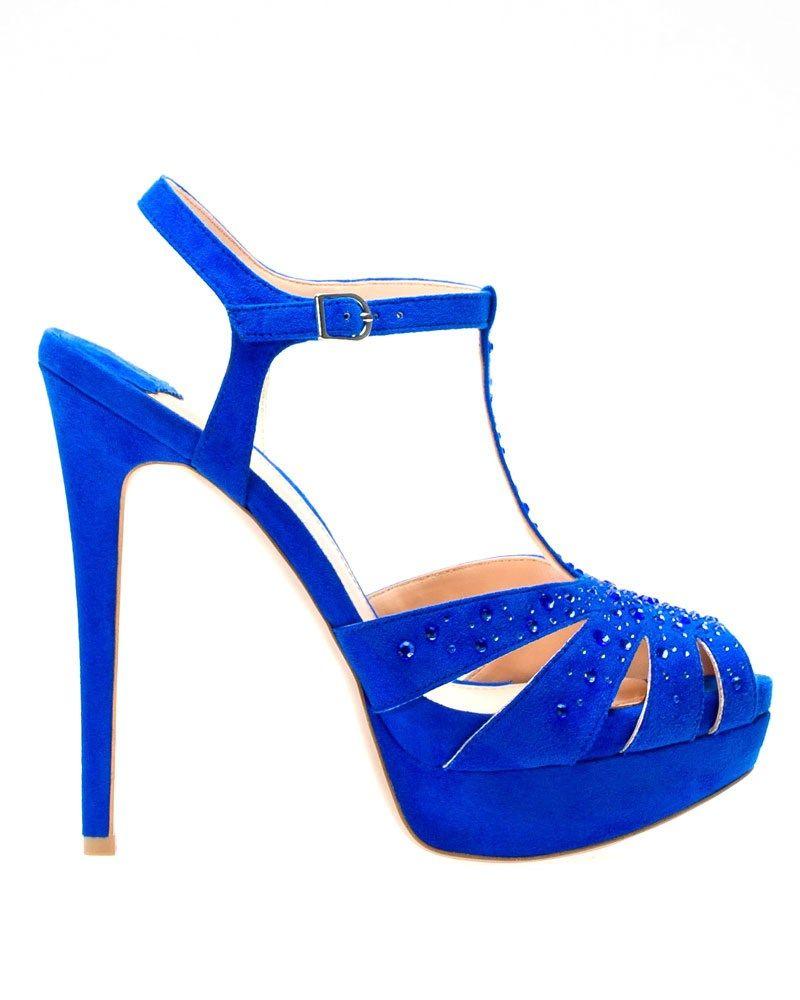 Tira De Azul Sandalias CobaltoStradivariusFashion En 0nOkwP
