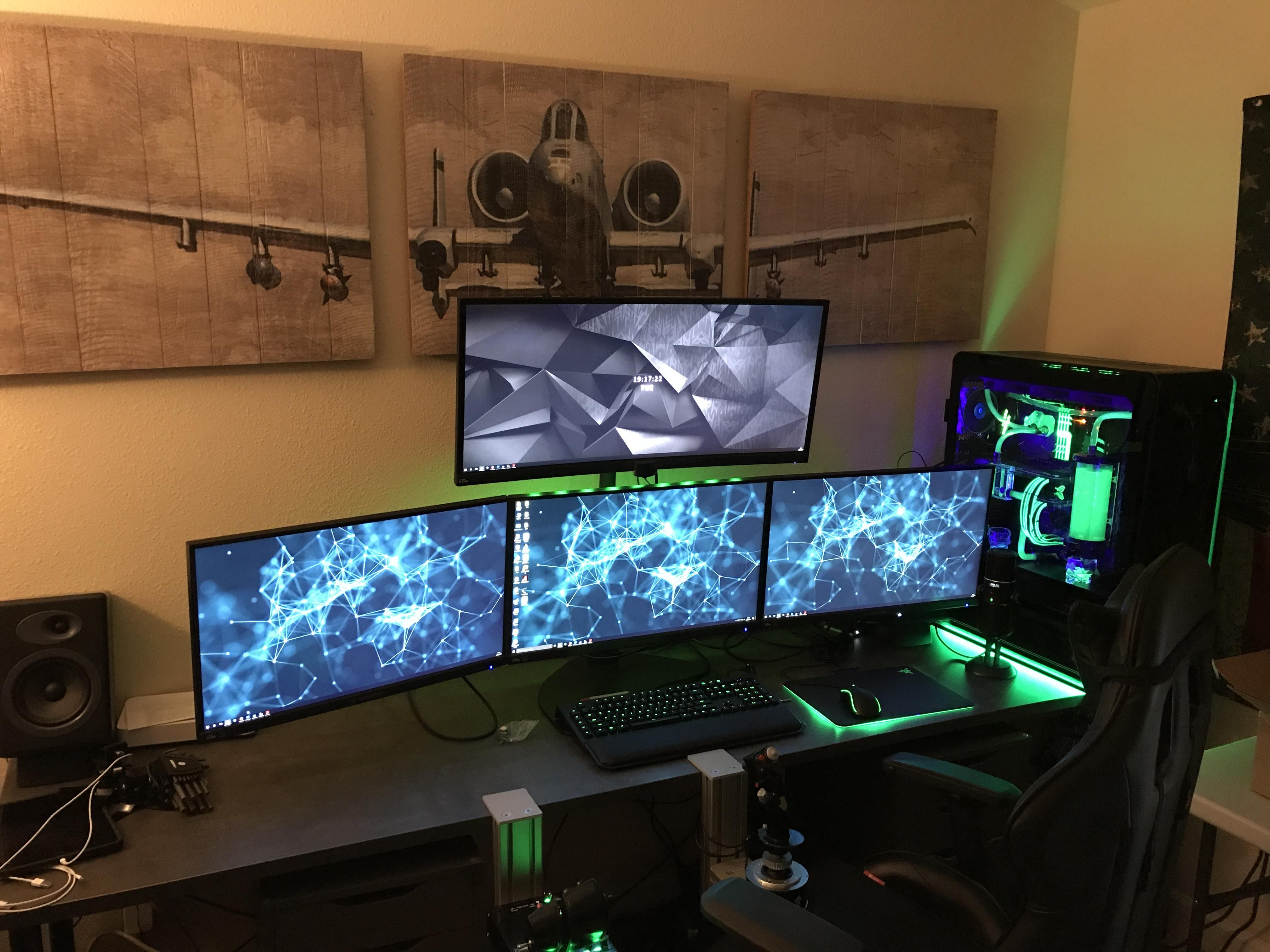 Battle Station Gaming Office House Pinterest Buero Dcs Prepar3d Battle Station 3 4k Acer Xb271hk 1 Acer X34