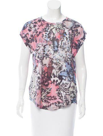 0853156a2abf99 Iro Sleeveless Linen Printed T-shirt w  Tags
