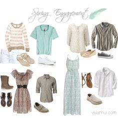what to wear engagement photos spring