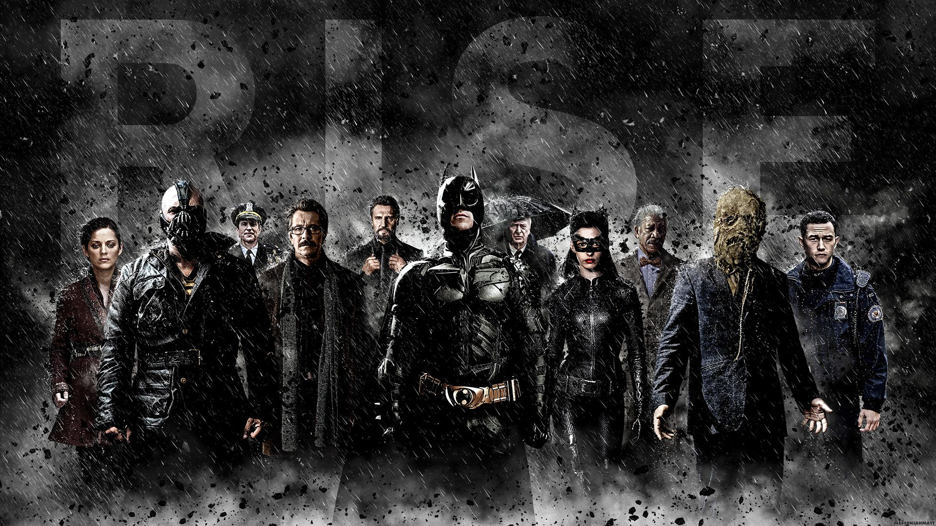 Alfred Pennyworth Anne Hathaway Bane Batman The Dark Knight Rises Wallpaper Wallbase