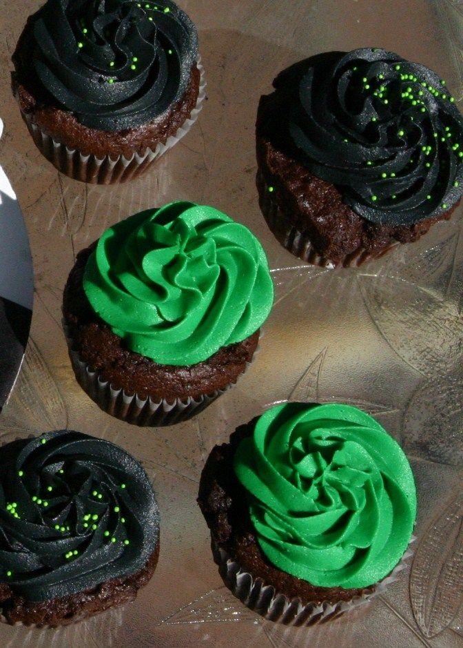 Green And Black Ben 10 Cupcakes Birthday Ideas Ben 10