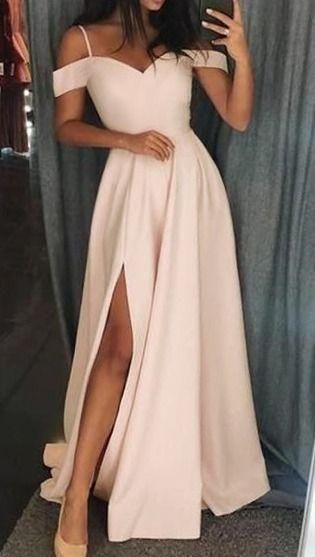 Ivory long prom dress with straps, gorgeous long prom dress 2020 cg6400