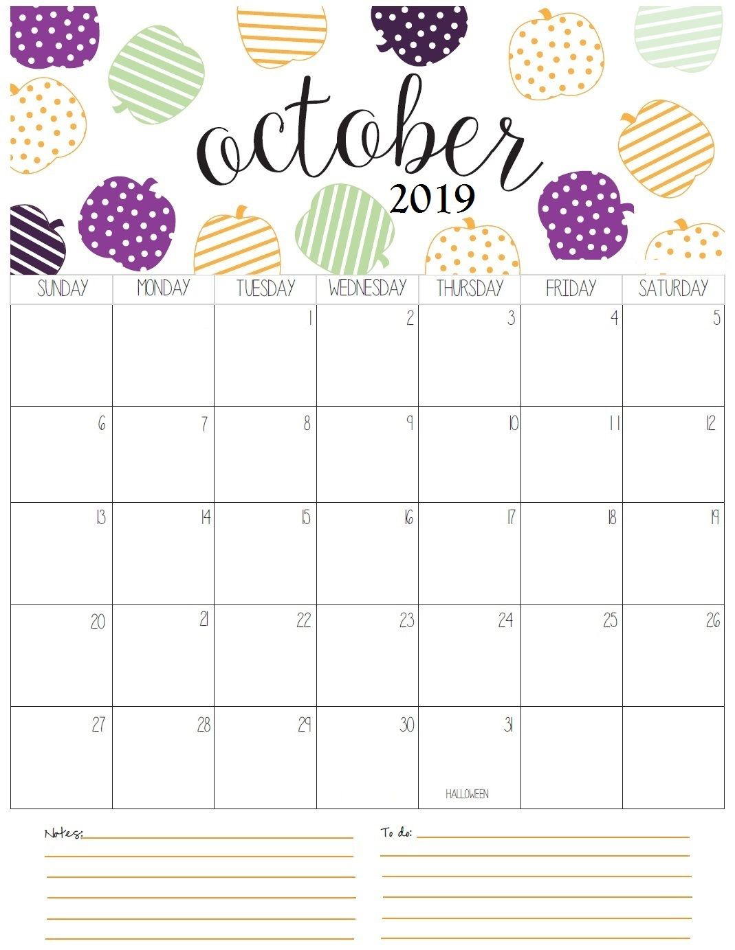graphic about Free Printable Oct Calendar titled Oct Regular monthly Calendar 2019 planner Oct calendar