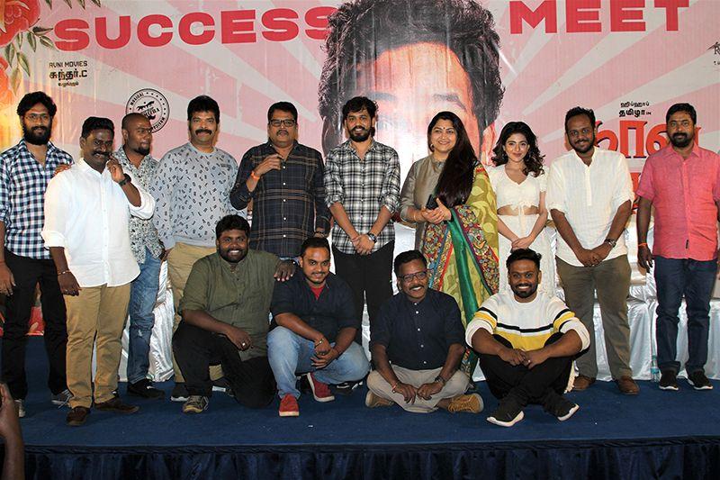 Actress Kushboo,  Hiphop Tamizha Adhi Speech At Naan Sirithal Movie Success Meet
