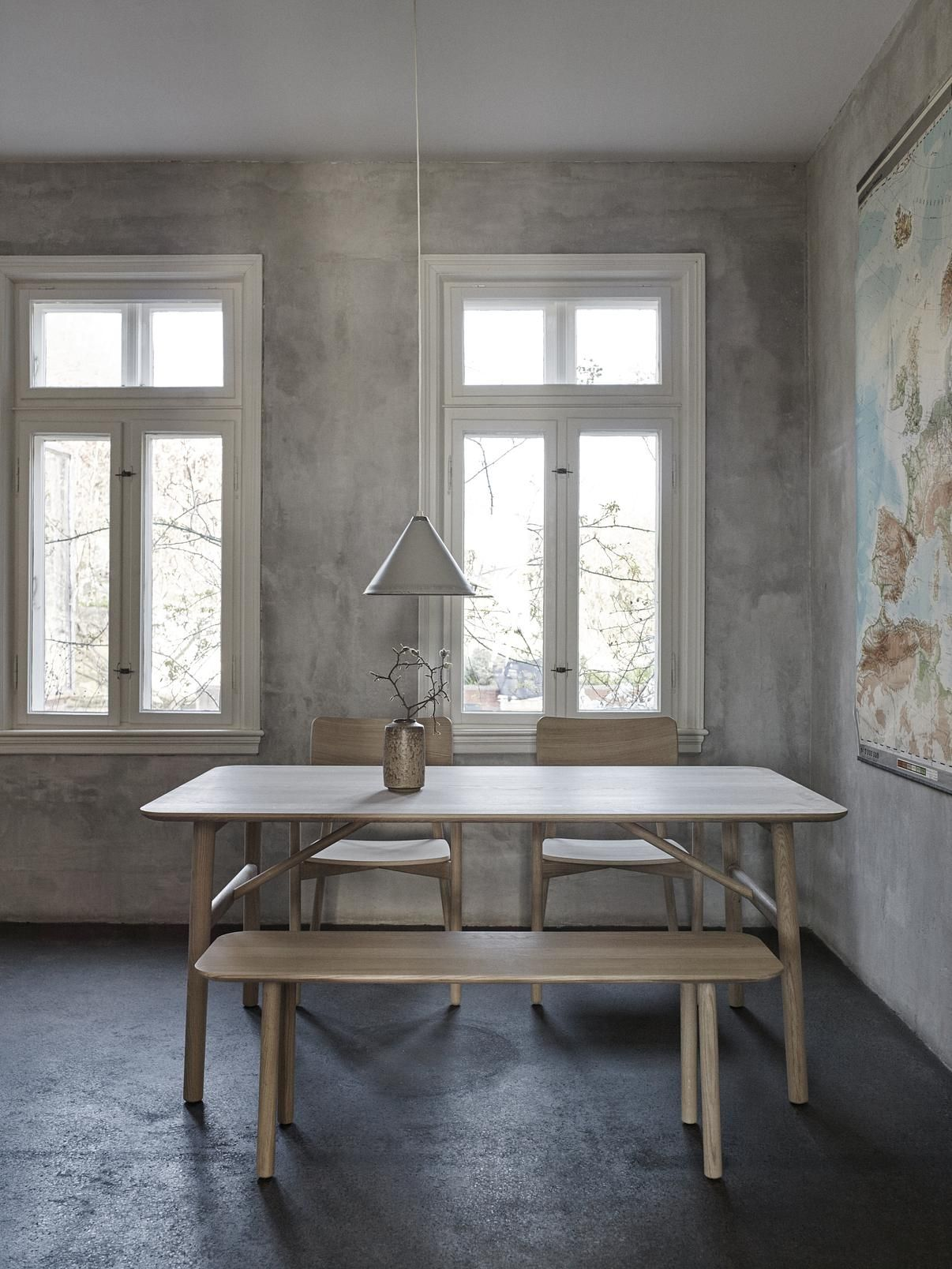 The Hven Table is crafted from solid, untreated oak with a beautiful grain pattern and a superb durability.  A minimalistic design, the table is characterized by its round legs and corners with subtle details along the tabletop and legs.  From Skagerak.  #kitchendecor #diningtabledecor#homedesign #interiordecor #interiorstyle #interiorinspo #interiorinspiration #instahome