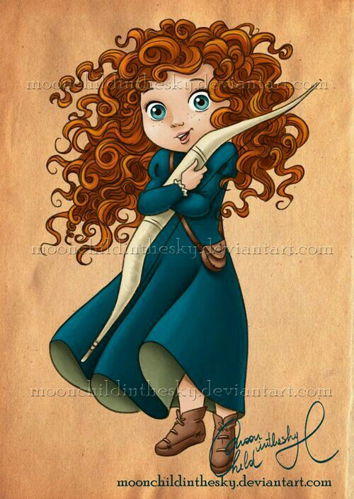 Valente Crianca Meninas Ruiva Princesa Princesas Disney