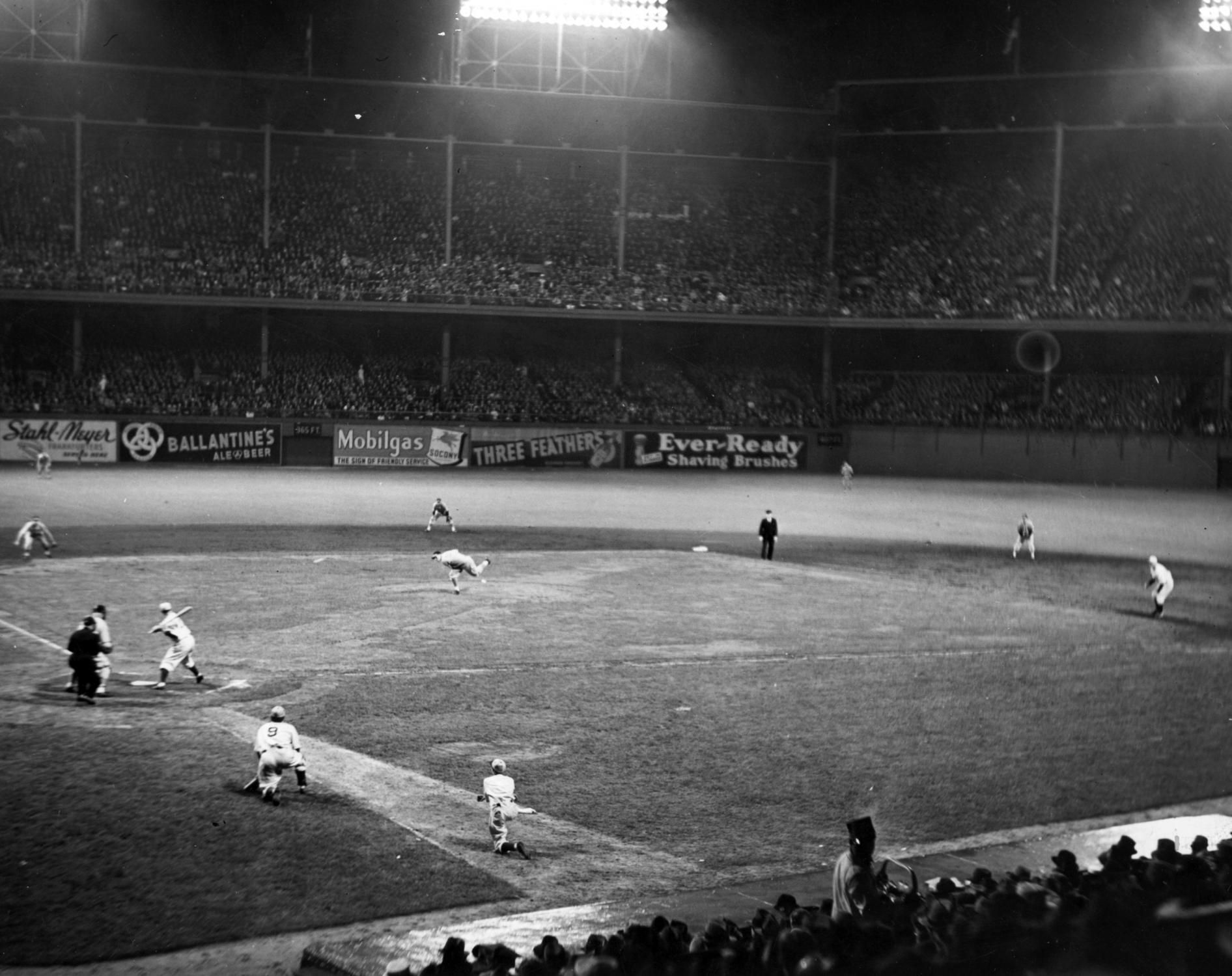 Ebbets Field, Brooklyn 6/15/38 - Dodger fans this night ...