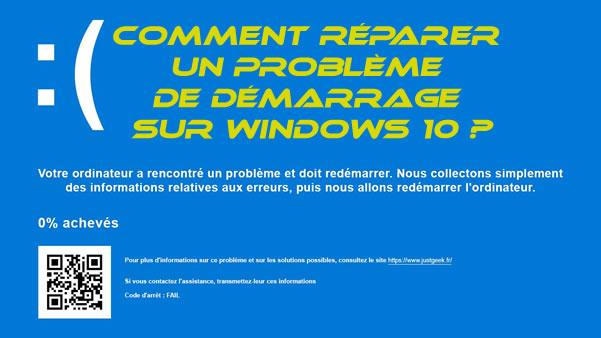 Topic Votre ordinateur a rencontré un problème et doit redémarrer.
