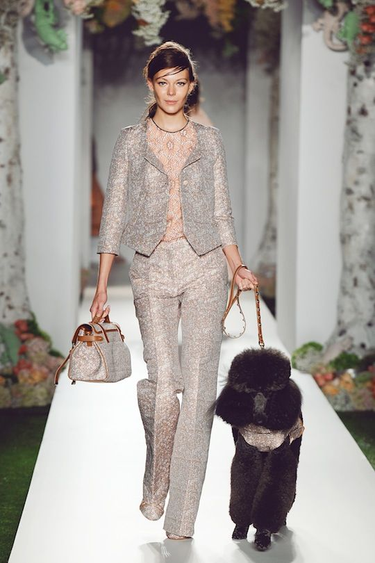 Mulberry Spring 2013. Prints, prints, prints. And poodle!!