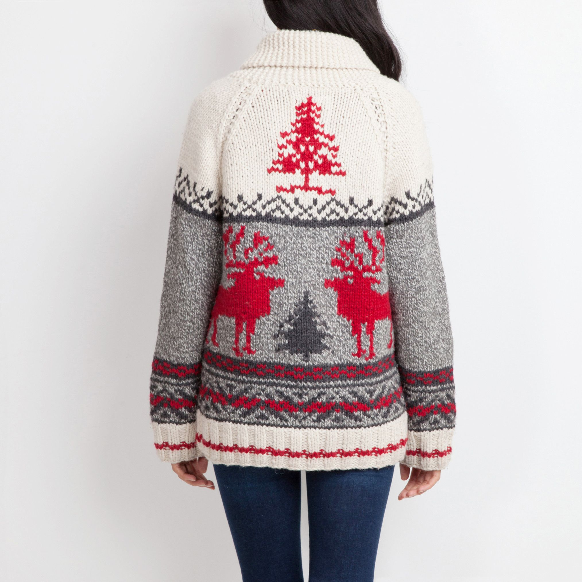 Mary Maxim Reindeer Sweater Roots Sweaters for Women
