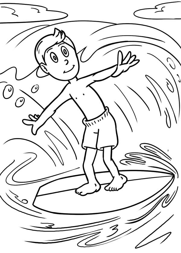 Malvorlage Surfen | Malvorlagen - Ausmalbilder | Pinterest | Outlines