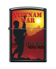 Zippo Lighter: Vietnam War 1955-1975 - Black Matte
