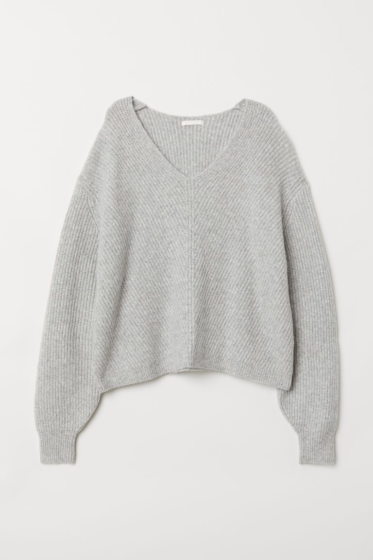 0525d63109a99a Chunky Chunky Puff Sleeves Cropped Sweater in Lavender   Sweater in 2019    Fashion, Cropped sweater, Sweaters