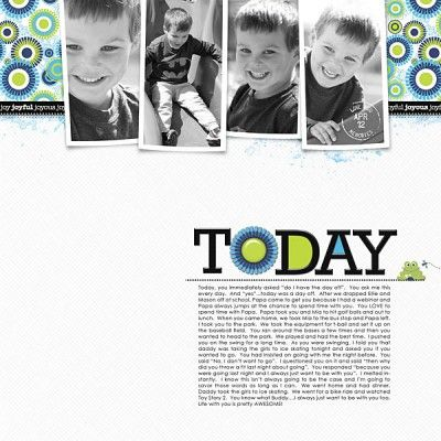 How to Make Easy Scrapbook Pages | Get It Scrapped- 4 black and white photos on a band