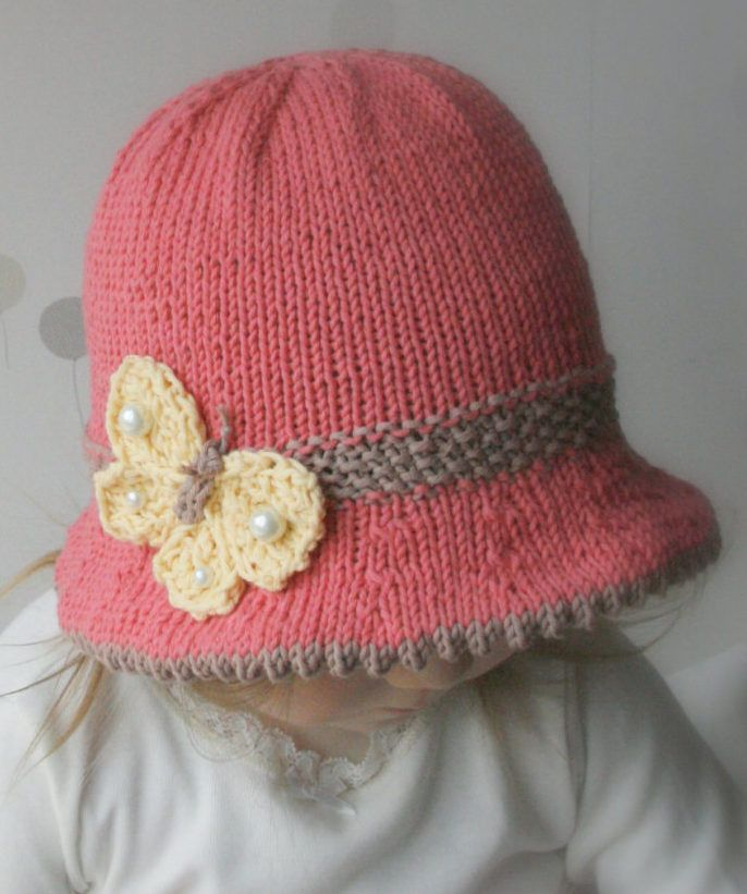 Knitting Pattern for Butterfly Bucket Hat - Even the butterfly is ...